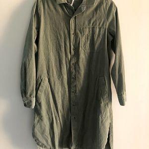Free People Corduroy Shirt Dress